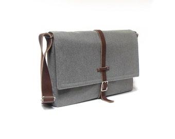 """11"""" / 13"""" MacBook Air / 12"""" MacBook messenger bag - medium gray"""