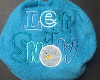 Christmas MamaBear One Size Fleece Diaper Cover - Let It Snow