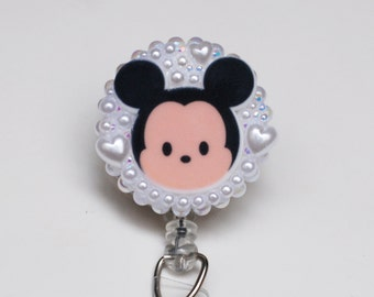 Mickey Mouse Tsum Tsum ID Badge Reel - Retractable ID Badge Holder - Zipperedheart