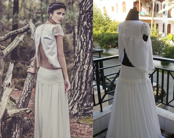 Laure de Sagazan Skirt Bergman And Top Lewis Inspired Wedding Dress