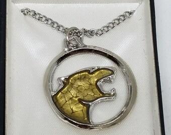 Cougar Pendant Necklace Vintage Mascot School College Team
