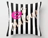 Kiss & Makeup Pillow w/ Insert | Pillow | Bedding | Teen Bedding | Dorm Room Bedding | Decorative Pillow |