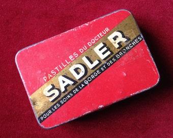 Old french tin box, sirop