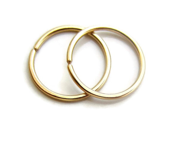 small hoop earrings for second cartilage earrings small gold filled hoops one by 2362
