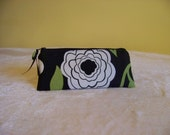 PEN & PENCIL Pouch Small zippered pouch perfect to hold all of your writing and Journaling tools. Modern green floral