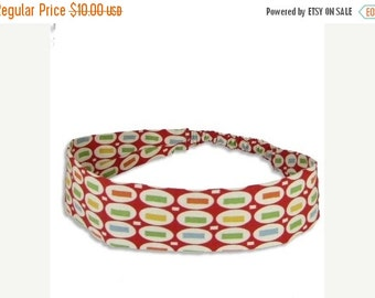 50% off sale Red Pez Fabric Headband with covered elastic - only small size remains - SALE -