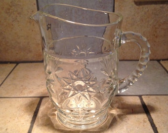 Small Clear Pressed Glass Serving Pitcher