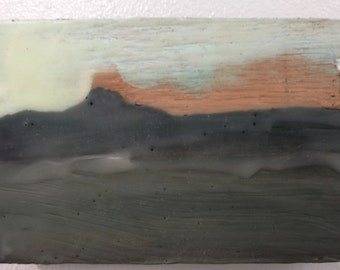 Blytheville  - small encaustic painting