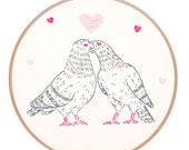 Love Pigeons Embroidery Kit