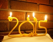 beeswax  2016 New Year candle