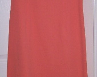 Long Dress With Side Slit -  Vintage - Hand-Painted  in 1960's.