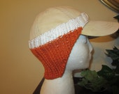 Practical Red And White Hand Knit Baseball Ear Warmer For Any Activity