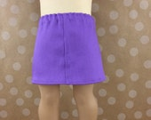 Fits American Girl 18 Inch Dolls Purple Twill Straight Mini Skirt Doll Separates Mix and Match Girls Toy