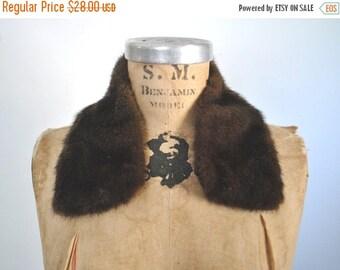 SALE Dark Brown Mink Fur Collar / vintage
