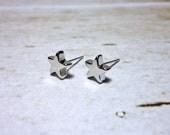 Solid Star Stud Earrings, Dainty Earrings