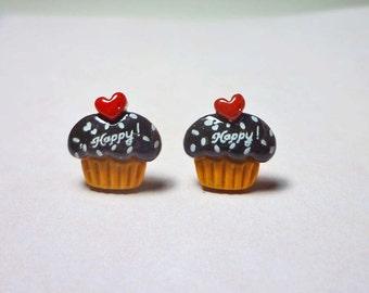 SALE - Little Cupcake Stud Earrings