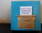 Blue Miniature Typewriter Wall Art