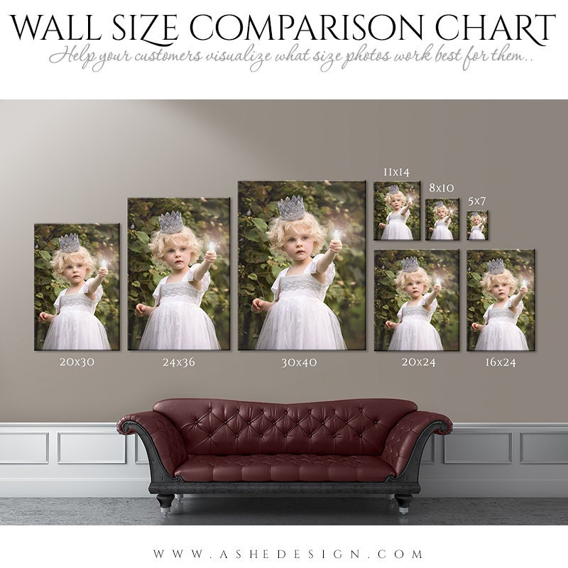 Wall Display Guide Size Comparison Chart Portrait 1