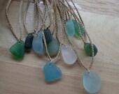 Beach Bum sea glass necklaces
