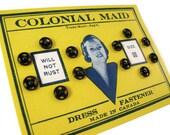 Vintage Black Snap Fasteners on Original Card - Colonial Maid