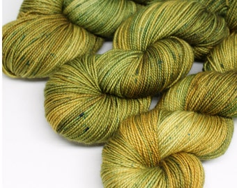 Hand Dyed Sock Yarn - SW Sock 80/20 - Superwash Merino Nylon - 400 yards - Mossy