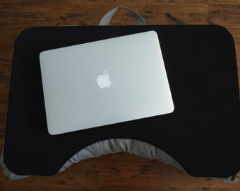 Large Black and Gray Lap Desk