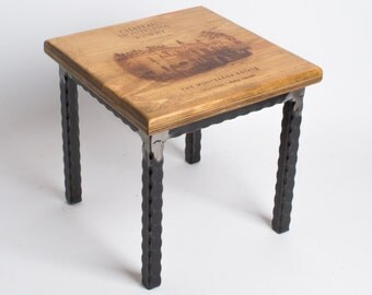 Chateau Montelena Crate Step Stool with Metal Base