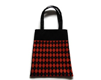Fabric Gift Bag/Goodie Bag - Argyle