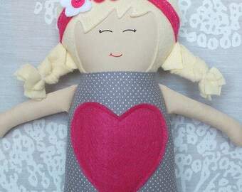 Handmade Doll, Soft Doll, Baby Doll, Gift, Baby Shower (Free Shipping In The U.S)