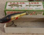 Vintage Creek Chub Baby Pikie Minnow Fishing Lure 901 With Box