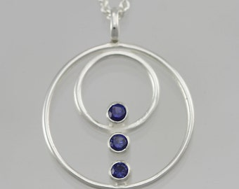 Double Circle Array Neck (Sapphire)