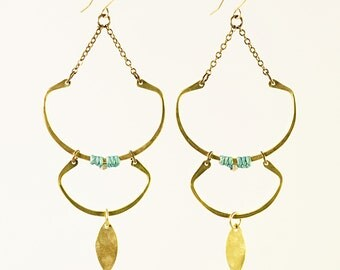Double Sunken Moon Earrings