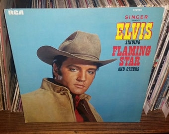 Elvis Singing Flaming Star And Others Vintage Vinyl Record