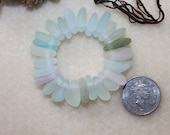 AWESOME BEACHGLASS/SEAGLASS SMall Top Drilled Seaglass Jewels In Beautiful Pastel Shades Genuine Beachglass/seaglass Charms zy067