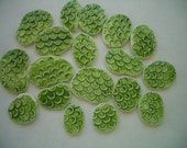 18ES - 18 pc GREEN Scales - THIN for Glass Circles - Ceramic Mosaic Tile Set