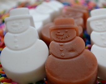 Mini Snowman Soap - Holiday Soap - Soap for Kids - Chocolate Soap