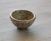 Wheel Thrown  small White Speckled  Bowl