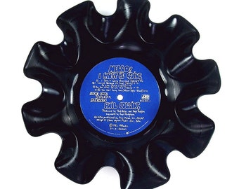 Phil Collins Vinyl Record Bowl Vintage LP Album 1982 (Hello! I Must Be Going) Blue Label