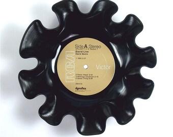 David Bowie Vinyl Record Bowl Vintage LP Album 1974 (David Live) Tan RCA Label