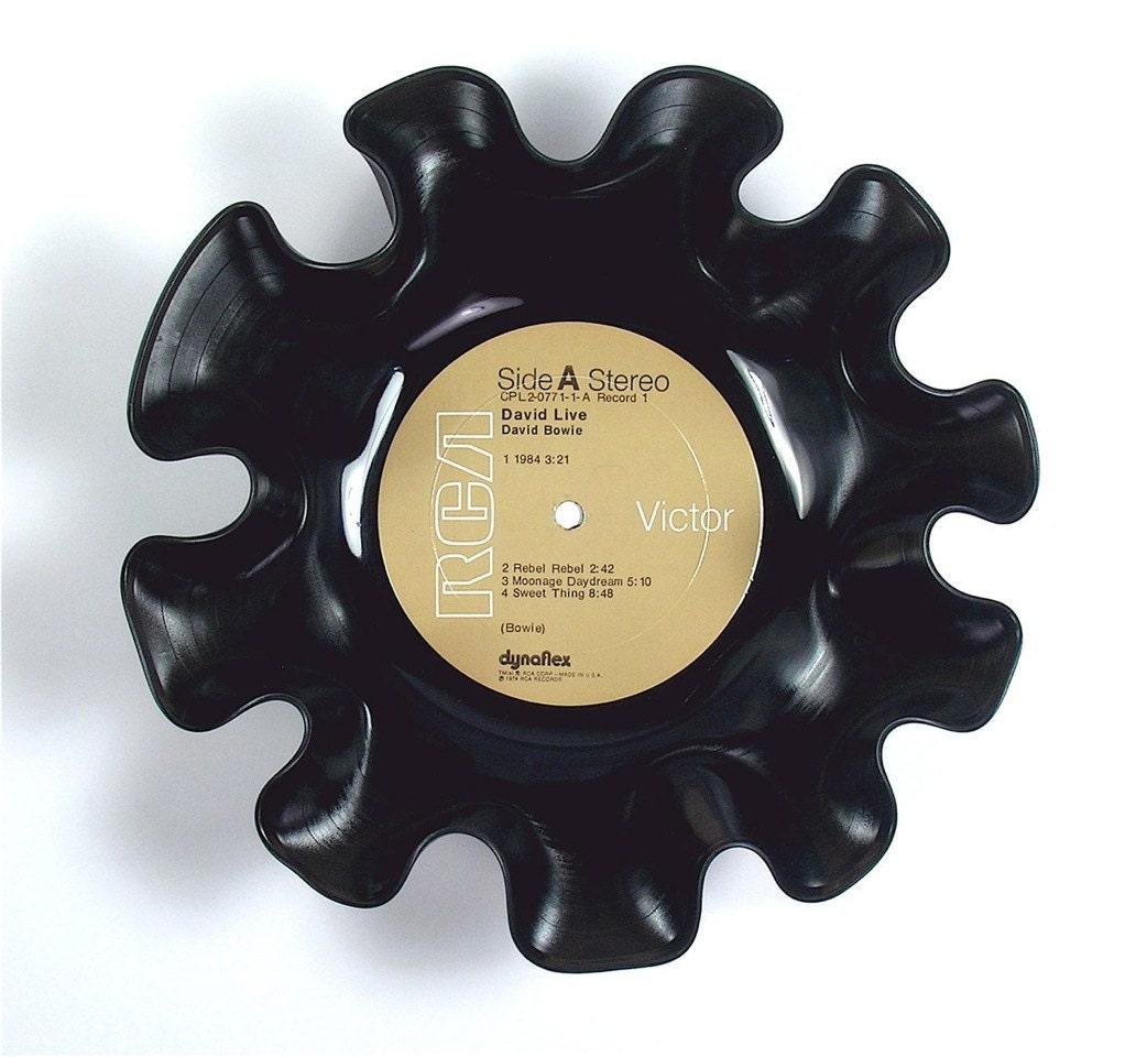 David Bowie Vinyl Record Bowl Vintage Lp Album 1974 David