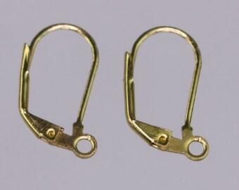 50 raw Brass Bronze Leverback Earrings earwire - 19X10mm