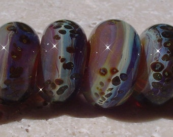 CARAMEL MACCHIATO Artisan boro beads by JRG