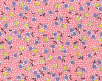 30s Reproduction Fabric - Bunny Tales Pink Floral By Darlene Zimmerman for  Robert Kaufman  ADZ-14801-122 - Camellia - Yardage