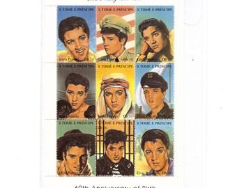 1995 Elvis Presley Movies Tribute Stamps from São Tomé