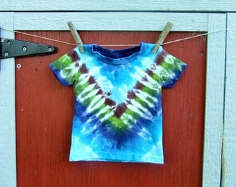 6m BabyTie Dye T-Shirt - Forest V - Ready to Ship