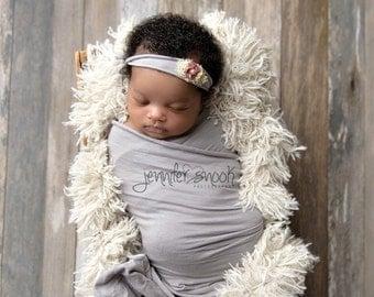 Newborn Photo Prop, Linen Beige Vegan Faux Flokati Fur, BaSkeT StuFFeR Fur Baby Photography Props, Soft, Baby Whisperer