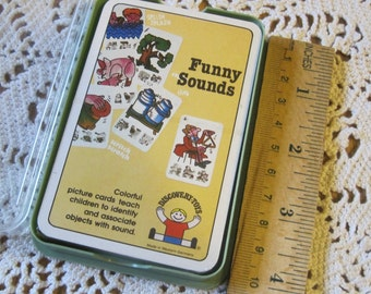 Unopened Vintage 1983 Discovery Toys Funny Sounds Card Game