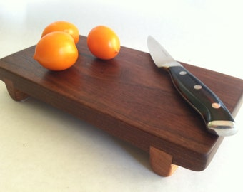 Eco Hardwoods Reclaimed BLACK WALNUT small serving board/cutting board