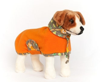 Snickerdoodle: Dog Fleece, Dog Fleece Coat, Dog Coat for Winter, Dog Coat with Snood, Big Dog Coat