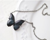 Black Butterfly necklace (N001)